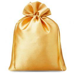 5 st. Satinsäckchen 22 cm x 30 cm (gold)