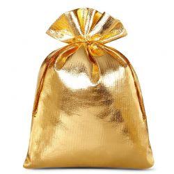 10 st. Metallic säckchen 12 cm x 15 cm (gold)