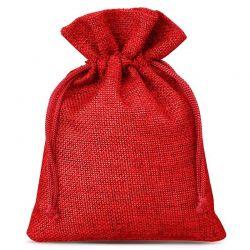 10 st. Jutesäckchen 13 cm x 18 cm (rot)
