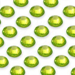 176 St. Selbstklebende Schmucksteine - Runde 4 mm (grün)