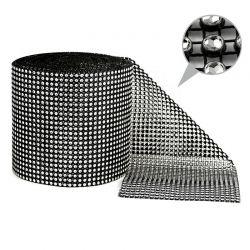 1 St. Strassband 0,12m x 9m (Silber-schwarz)