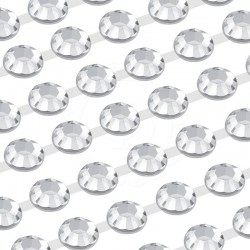 152 St. Selbstklebende Schmucksteine, (verbunden) 10 mm (kristall farbe)