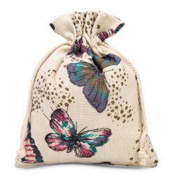 1 St. Leinensäckchen 15 cm x 20 cm bedrucken / Schmetterling