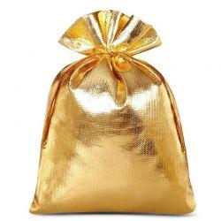 10 St. Metallic beutel 13 cm x 18 cm, Metallic Säckchen (gold)