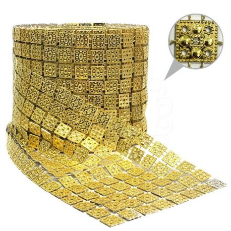 1 St. Strassband 12 cm x 9m (Gold)