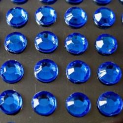 100 St. Selbstklebende Schmucksteine - Runde 5 mm (blau)