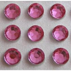 100 St. Selbstklebende Schmucksteine - Runde 5 mm (rosa)