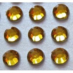 100 St. Selbstklebende Schmucksteine - Runde 5 mm (gold)