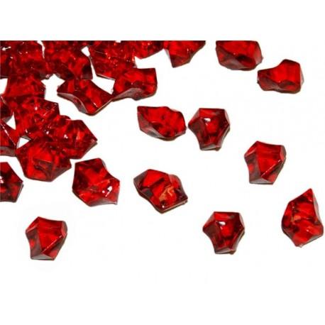 190 St. Kristall Acryl Eiswürfel, groß 2,3 x 1,8 cm (rot)