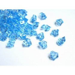 190 St. Kristall Acryl Eiswürfel, groß 2,3 x 1,8 cm (blau)