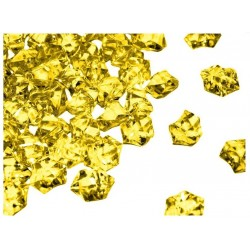 190 St. Kristall Acryl Eiswürfel, groß 2,3 x 1,8 cm (gelb)
