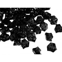780 St. Kristall Acryl Eiswürfel, klein 1,4 x 1,1 cm (schwarz)