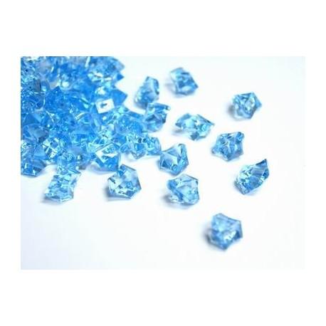 780 St. Kristall Acryl Eiswürfel, klein 1,4 x 1,1 cm (blau)