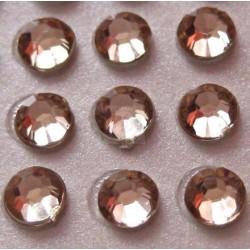176 St. Selbstklebende Schmucksteine - Runde 3 mm (ecru)