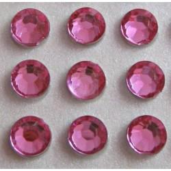 176 St. Selbstklebende Schmucksteine - Runde 3 mm (rosa)