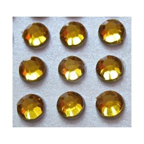 176 St. Selbstklebende Schmucksteine - Runde 3 mm (gold)