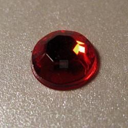 100 St. Selbstklebende Schmucksteine - Runde 6 mm (rot)